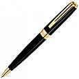 Брендовая ручка шариковая Waterman EXCEPTION Slim Black GT BP 21 028, фото 2