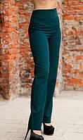 Зеленые брюки с высокой посадкой