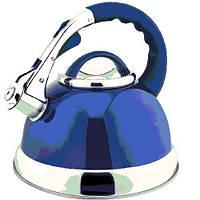 Чайник для плиты AURORA AU 613 (3.0л, нерж/синий)