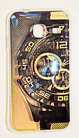 Чехол на Самсунг Galaxy J1 mini (2016) Силикон перламутр Часы , фото 1