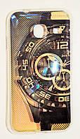 Чехол на Самсунг Galaxy J1 mini (2016) Силикон перламутр Часы