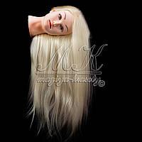 Учебная голова с мелким эффектом гофре, 65 - 70 см, цвет белый