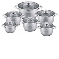 Набор посуды MAXMARK MK-3512B (12 пр.)
