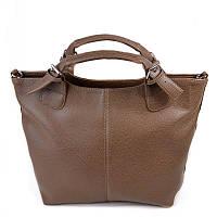 Темно-оливковая сумка шоппер М51-71 женская в форме трапеции, фото 1