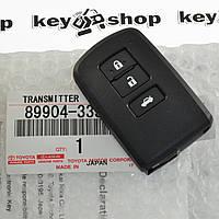 Оригинальный смарт ключ для Toyota Camry 50, BA2EQ, 3 кнопки, Toyota H chip, P1:88. Для рынка Европы, с 09-14г