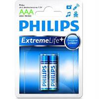 Батарейка PHILIPS AAA Ultra Alkaline LR03-E2B 2 бл