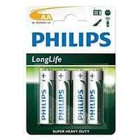 Батарейка PHILIPS AA LongLife R6-L4B 1шт.(4в бл)