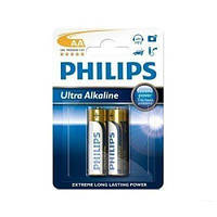 Батарейка PHILIPS AA Ultra Alkaline LR6-E2B 2шт.бл