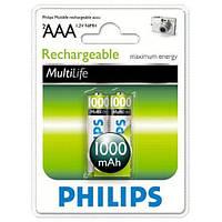 Аккумулятор PHILIPS AAA Ni-MH R03 1000mAh 1x2 шт