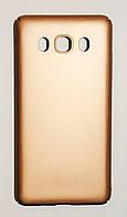Чехол на Самсунг Galaxy J5 J510F (2016) PC Soft Touch case матовый мягкий Пластик Золото