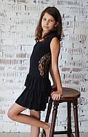 Платье для танцев с гипюровой вставкой
