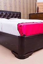 Кровать двуспальная Милена мягкая ромбы подъемный механизм 160 Олимп, фото 3