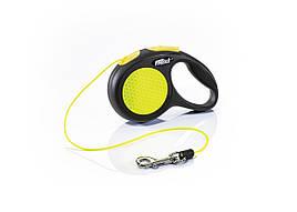 Flexi Neon XS трос 3 метра до 8 кг поводок-рулетка для собак