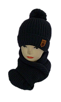 Комплект для мальчика шапка и шарф