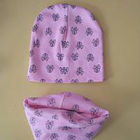 Детская трикотажная шапка Варе+ хомут
