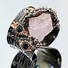 Кольцо серебро 925 пробы морганит (розовый изумруд)