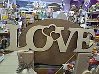 "Слово из дерева ""Love"""