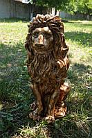 Лев средний 51 см. Скульптура для сада