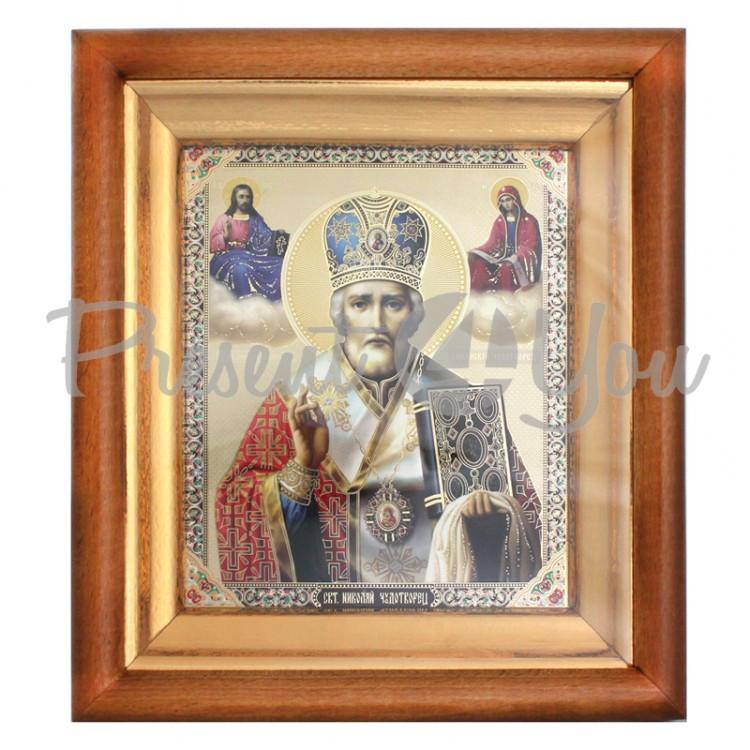 Икона Святой Николай Чудотворец, 24х21х4 см