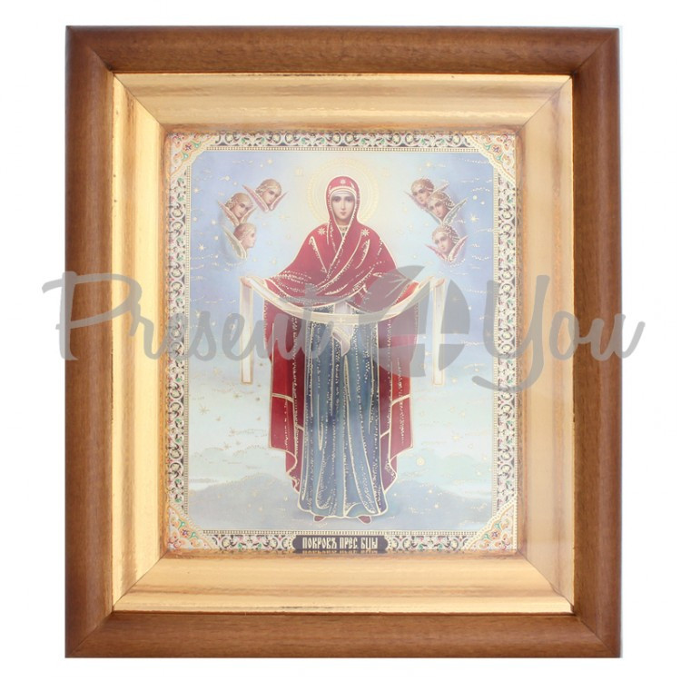 Икона Покров Пресвятой Богородицы 24х21х4 см.