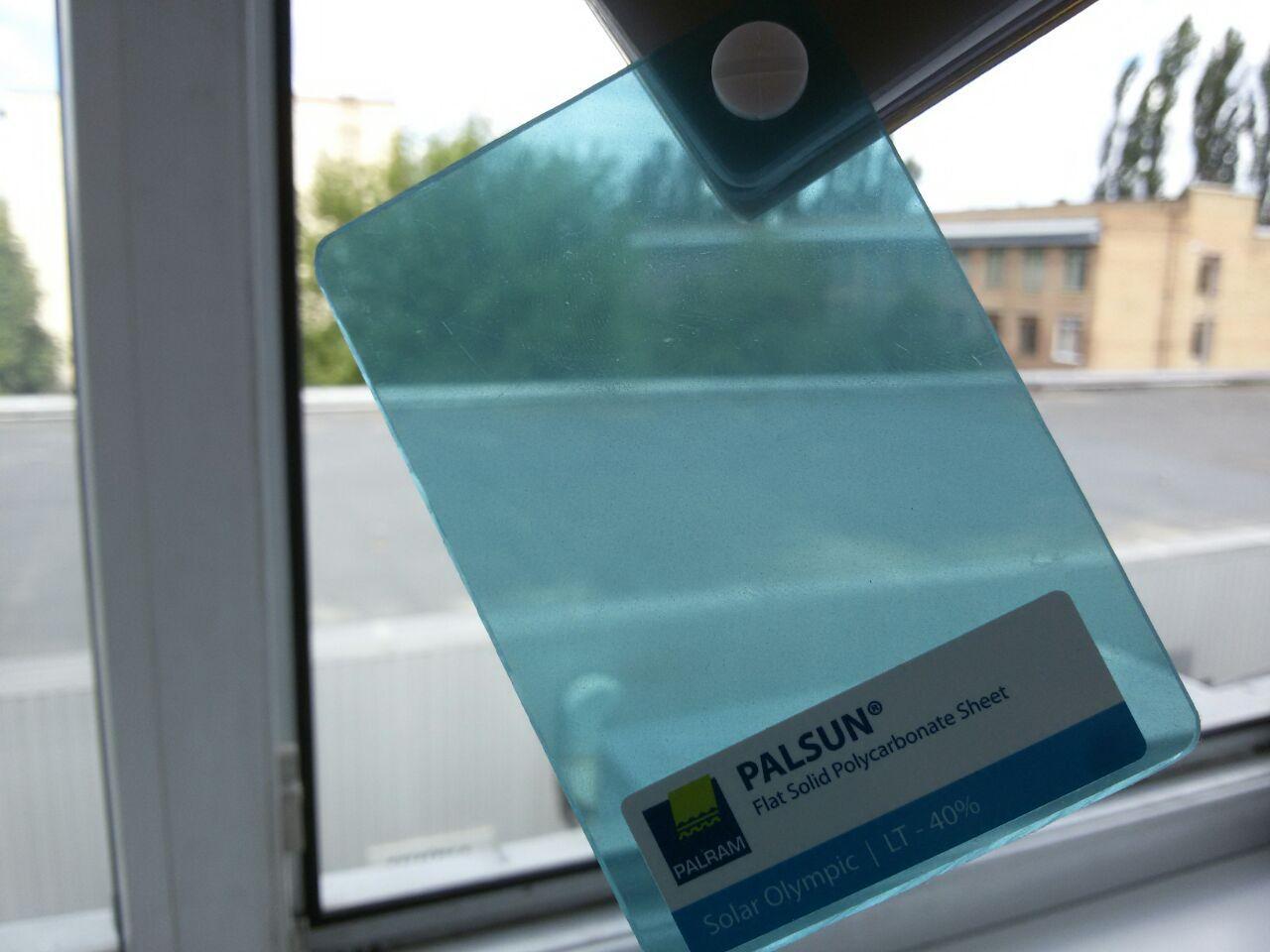 Монолитный поликарбонат PALSUN 4 mm Solar Olympic бирюзовый