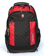 Брэндовый городской  Рюкзак SwissGear для ноутбука красный