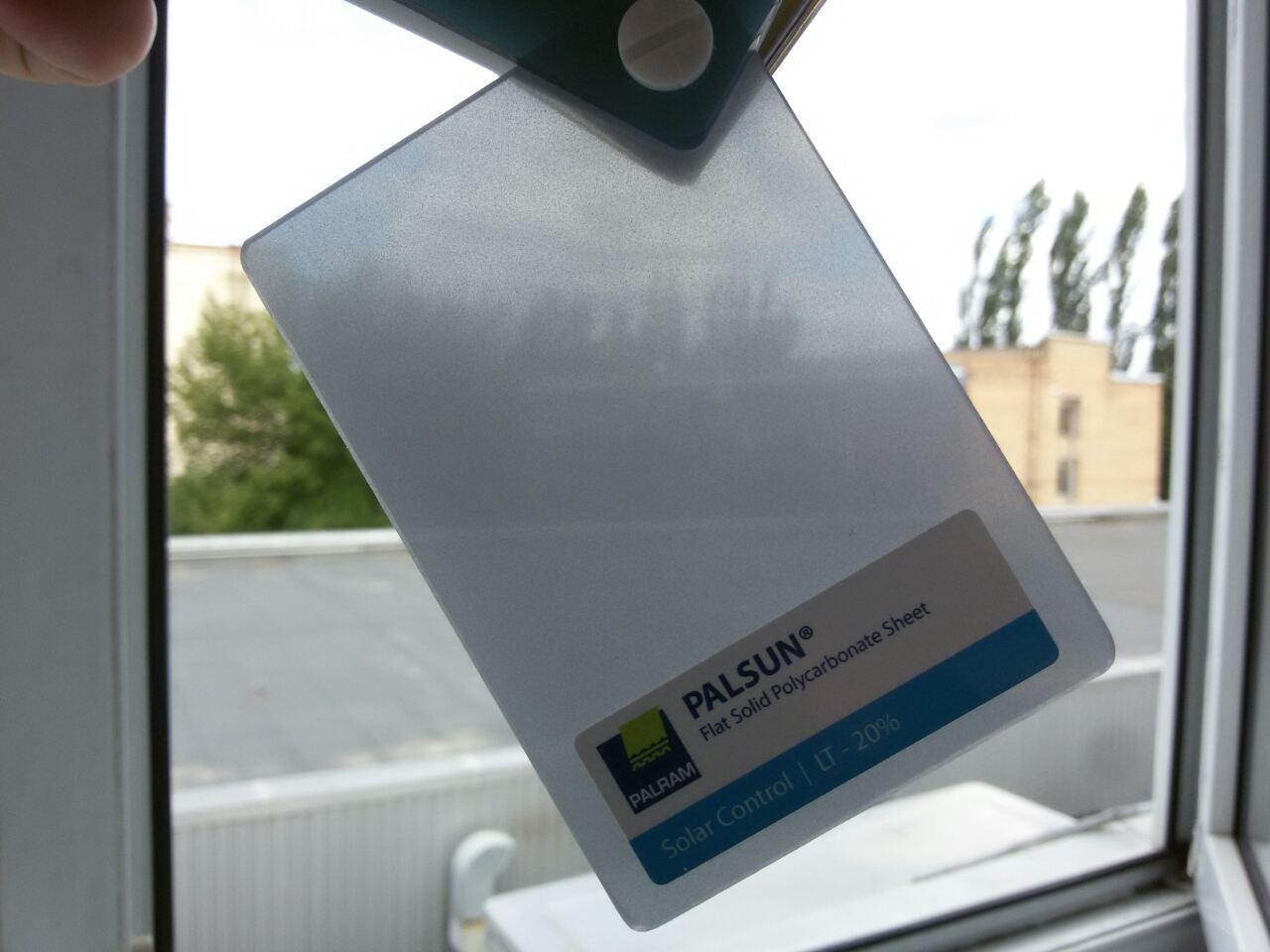 Монолитный поликарбонат PALSUN 4 mm Solar Control серебристый