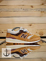Кроссовки мужские замш new balance 997 коричневые