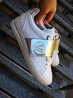 Кеды белые женские с липучкой Louis Vuitton качественная копия луи витон женская обувь