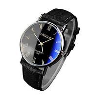 Мужские наручные часы черно-синего цвета (ч-3) ca24c2b3c2db2