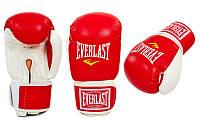 Перчатки боксерские EVERLAST (кожзам) 8oz, Красный