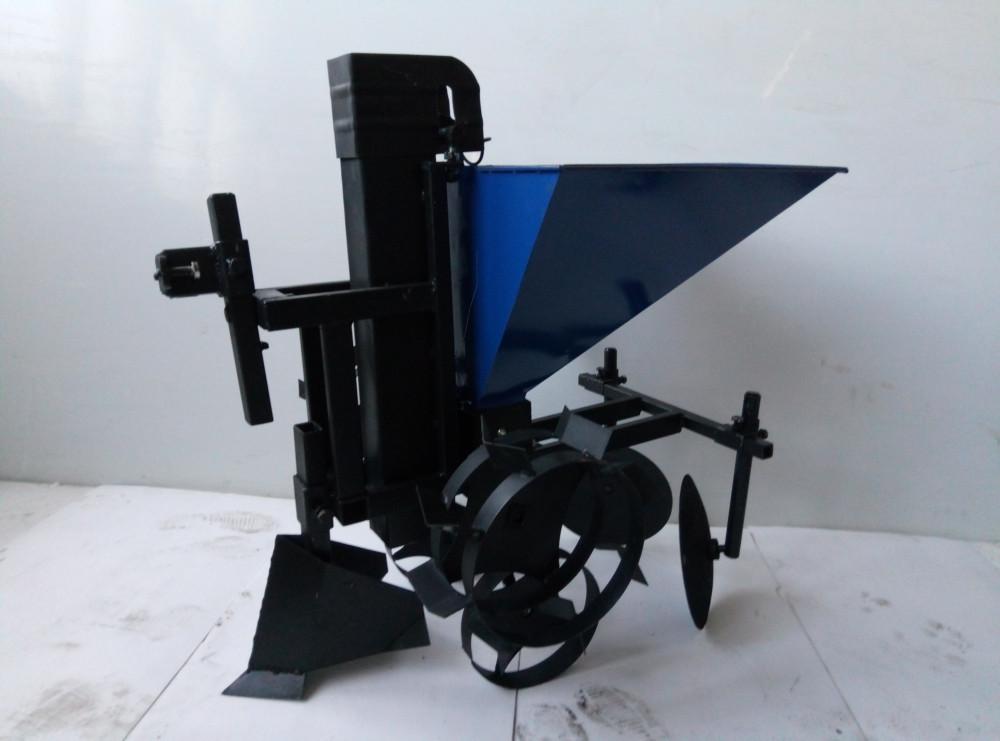 Картофелесажалка цепная для мотоблока с транспортировочными колесами