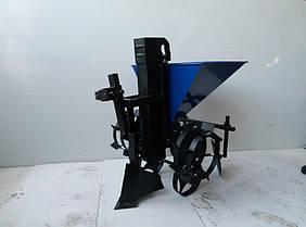 Картофелесажалка цепная для мотоблока с транспортировочными колесами, фото 3