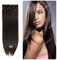 Волосы трессы ТЕРМО на заколках 8 прядей №4 длина 60см