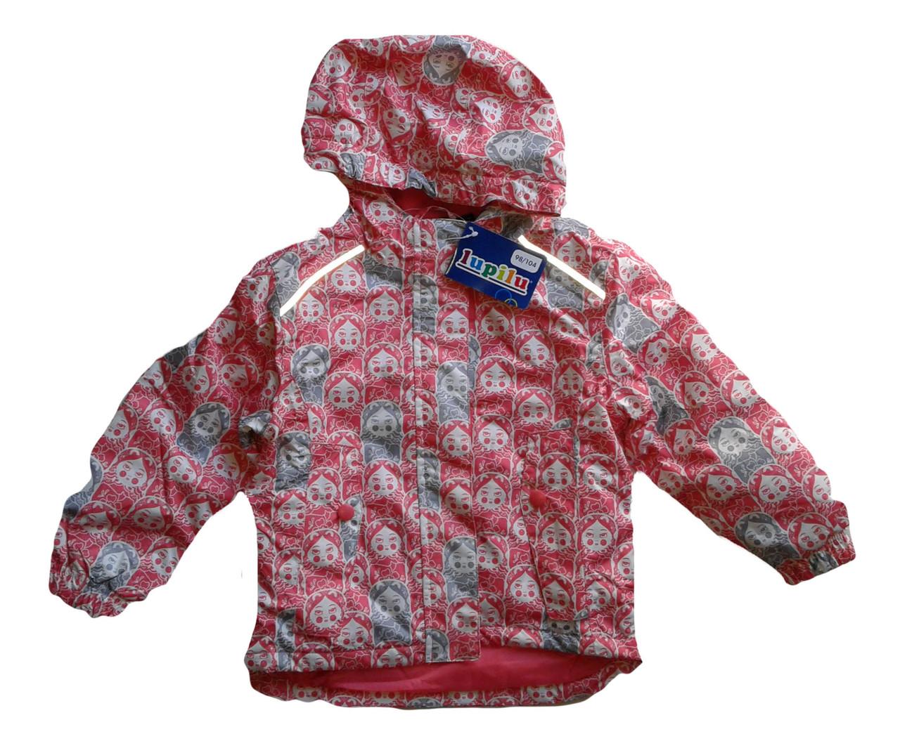 Куртка  для девочки, Lupilu, размер  98/104, арт. Л-415