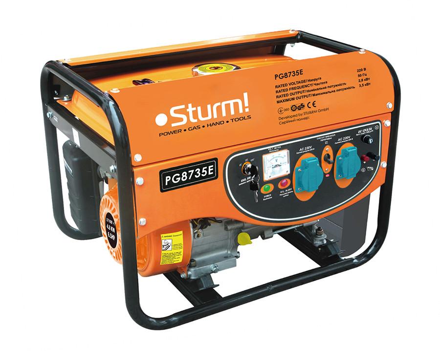 Генератор бензиновый 3500 Вт Sturm PG8735E