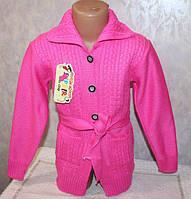 Детская одежда оптом от производителя.Вязанный кардиган на девочку 5-6,7-8,9-10 лет Код: 0213 Цена: 222  грн.