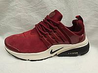 Кроссовки женские Nike Air Presto бордовые замш