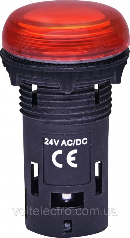 Лампа сигнальная LED (моноблочная) ECLI-240А  240V AC