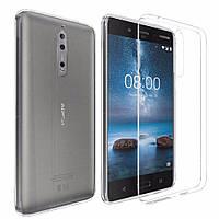 Ультратонкий 0,3 мм чехол для Nokia 8 прозрачный