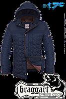 """Куртка мужская зимняя Braggart """"Dress Code"""" (синий с коричневым)"""