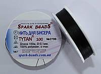 Нить для бисера TYTAN 100 №2799. Чёрный 100 м