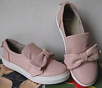Buscemi! Кожаные слипоны с бантом! Женская обувь удобные туфли яркие кеды крутые сникерсы.Комфорт и качество