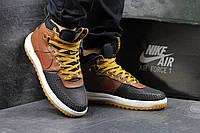 Кроссовки Nike Lunar Air Force  LF1, коричневые с чёрным