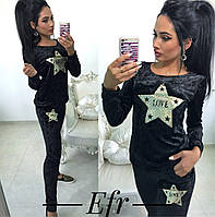 Велюровый женский костюм Звезда 7- 201, фото 1