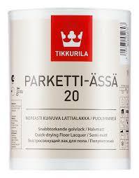 Лак Tikkurila Parketti Assa Тиккурила Паркетти Ясся полуматовый 5л