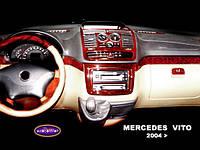 Накладка на приборную панель Mercedes Vito W639
