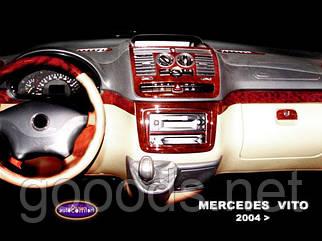 Накладка на приборную панель Mercedes Vito W639 (04-06)
