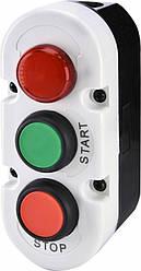 Кнопочный пост ESE3-V8  две кнопки START/STOP, контрольная лампа