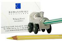 Держатель-магнит для записей  с точилкой Locomotive Romanowski Rm0684 серебристый